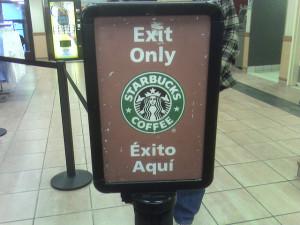 Traducción errónea de Starbucks