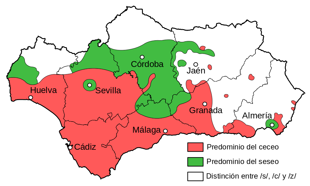 Andalucía ceceo and seseo